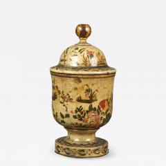 Antique 18th Century Venetian Lacquer Povera Container - 1303286