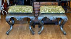 Antique 19c Carved Venetian Stools a Pair - 2019800