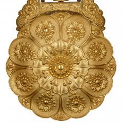 Antique 19th Century Bourbon Restauration Malachite and Gilt Bronze Mantel Clock - 1937760