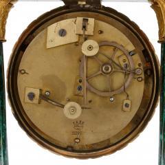 Antique 19th Century Bourbon Restauration Malachite and Gilt Bronze Mantel Clock - 1937761