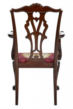 Antique 19th Century English Chippendale Mahogany Armchair  - 1237989