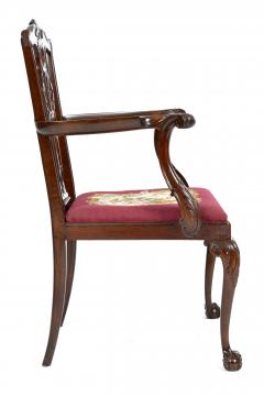 Antique 19th Century English Chippendale Mahogany Armchair  - 1237990