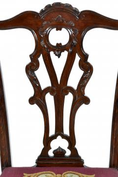 Antique 19th Century English Chippendale Mahogany Armchair  - 1237994
