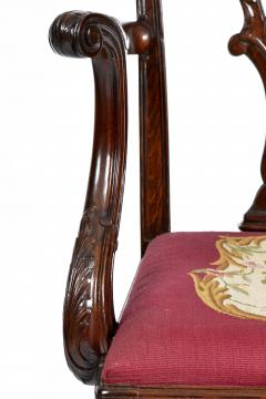Antique 19th Century English Chippendale Mahogany Armchair  - 1237995