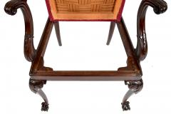 Antique 19th Century English Chippendale Mahogany Armchair  - 1237997
