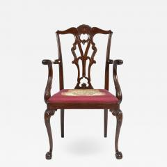 Antique 19th Century English Chippendale Mahogany Armchair  - 1243821