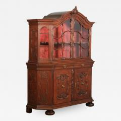Antique 19th Century French Oak Vitrine Cabinet - 1007110