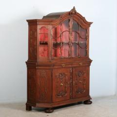 Antique 19th Century French Oak Vitrine Cabinet - 911777
