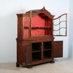 Antique 19th Century French Oak Vitrine Cabinet - 911779