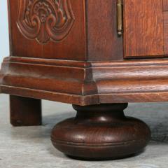 Antique 19th Century French Oak Vitrine Cabinet - 911780