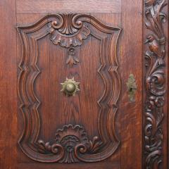 Antique 19th Century French Oak Vitrine Cabinet - 911781