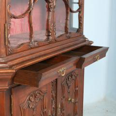 Antique 19th Century French Oak Vitrine Cabinet - 911783
