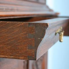 Antique 19th Century French Oak Vitrine Cabinet - 911784