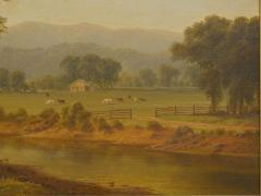 Antique 19th Century Hudson River Valley Oil Landscape Painting - 1052604