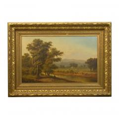 Antique 19th Century Hudson River Valley Oil Landscape Painting - 1052606