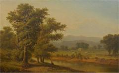 Antique 19th Century Hudson River Valley Oil Landscape Painting - 1052657