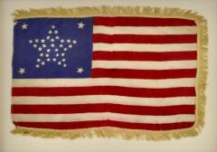 Antique 37 Star American Flag Circa 1867 - 1845638