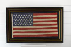 Antique 45 Star American Flag Circa 1896 Framed - 1847727