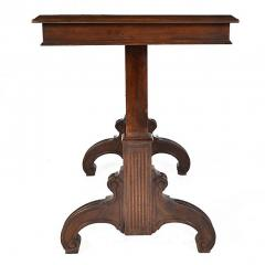 Antique Adjustable Height Mechanical Library Butler Service Table - 163569