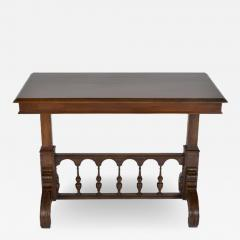Antique Adjustable Height Mechanical Library Butler Service Table - 166061