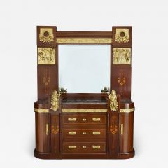 Antique Aesthetic Style Marquetry and Gilt Bronze Dressing Table - 1914533