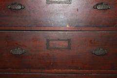 Antique American Library Wood Cabinet - 688920