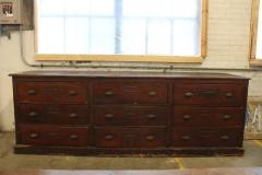 Antique American Library Wood Cabinet - 688922