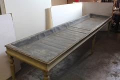 Antique American Zinc Top Farm Table - 793719