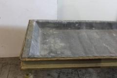 Antique American Zinc Top Farm Table - 793722