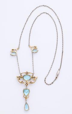Antique Aquamarine and Diamond Necklace - 1808348
