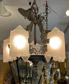 Antique Art Deco 5 Light Chandelier - 1999871
