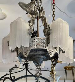 Antique Art Deco 5 Light Chandelier - 1999898
