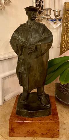 Antique Art Deco Hungarian Bronze Sculpture the Scholar by Laslo Janos Beszedes - 2076616