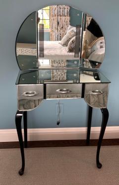 Antique Art Deco Mirrored Vanity Table - 2117362