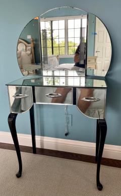 Antique Art Deco Mirrored Vanity Table - 2117364