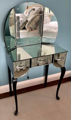 Antique Art Deco Mirrored Vanity Table - 2117365