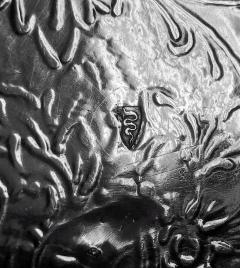 Antique Austrian Silver large Fruit Serving Dish Vienna C 1890  - 1172529