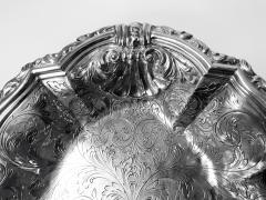 Antique Austrian Silver large Fruit Serving Dish Vienna C 1890  - 1172531