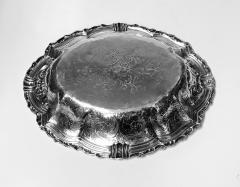 Antique Austrian Silver large Fruit Serving Dish Vienna C 1890  - 1172534