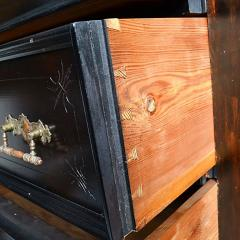 Antique Austrian Six Drawer Seminier Chest with Side Lock - 167749