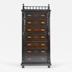 Antique Austrian Six Drawer Seminier Chest with Side Lock - 167767