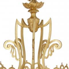 Antique Baroque Style Glass and Gilt Bronze Lantern - 2022770