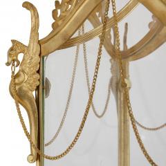 Antique Baroque Style Glass and Gilt Bronze Lantern - 2022772