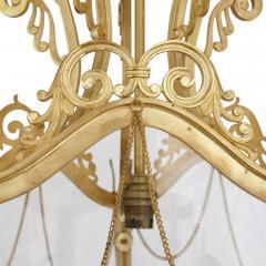 Antique Baroque Style Glass and Gilt Bronze Lantern - 2022780