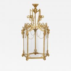 Antique Baroque Style Glass and Gilt Bronze Lantern - 2023930