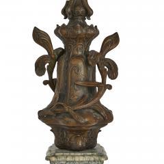 Antique Belle poque Sculptural Three Piece Clock Set after Auguste Moreau - 1954754