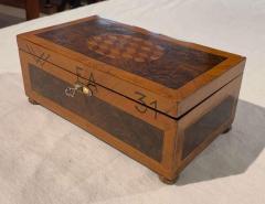 Antique Box Walnut Walnut Roots Ebony and Maple Germany circa 1880 - 1612332