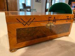 Antique Box Walnut Walnut Roots Ebony and Maple Germany circa 1880 - 1612333