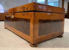 Antique Box Walnut Walnut Roots Ebony and Maple Germany circa 1880 - 1612340