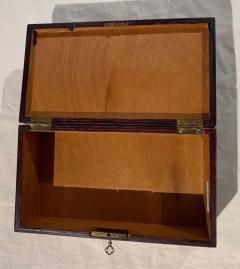 Antique Box Walnut Walnut Roots Ebony and Maple Germany circa 1880 - 1612344
